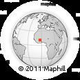 Outline Map of Koumbia