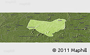Physical Panoramic Map of Koumbia, darken