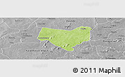 Physical Panoramic Map of Koumbia, desaturated