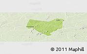Physical Panoramic Map of Koumbia, lighten