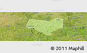 Physical Panoramic Map of Koumbia, satellite outside
