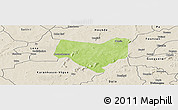 Physical Panoramic Map of Koumbia, shaded relief outside
