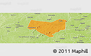 Political Panoramic Map of Koumbia, physical outside
