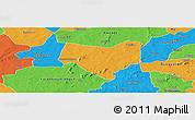 Political Panoramic Map of Koumbia