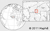 Blank Location Map of Kourignon