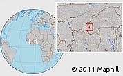Gray Location Map of Kourignon