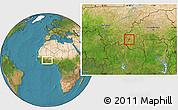 Satellite Location Map of Kourignon
