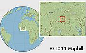 Savanna Style Location Map of Kourignon