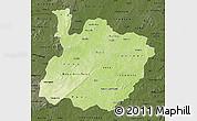 Physical Map of Houet, darken