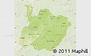 Physical Map of Houet, lighten