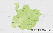 Physical Map of Houet, single color outside