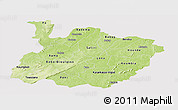 Physical Panoramic Map of Houet, cropped outside