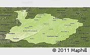 Physical Panoramic Map of Houet, darken