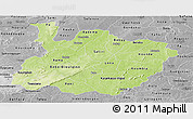 Physical Panoramic Map of Houet, desaturated