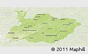 Physical Panoramic Map of Houet, lighten