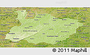 Physical Panoramic Map of Houet, satellite outside