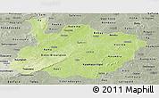 Physical Panoramic Map of Houet, semi-desaturated