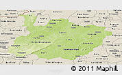 Physical Panoramic Map of Houet, shaded relief outside