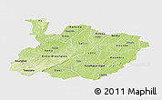 Physical Panoramic Map of Houet, single color outside