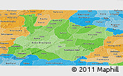 Political Shades Panoramic Map of Houet