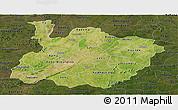 Satellite Panoramic Map of Houet, darken
