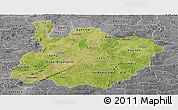 Satellite Panoramic Map of Houet, desaturated