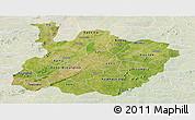 Satellite Panoramic Map of Houet, lighten