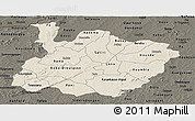 Shaded Relief Panoramic Map of Houet, darken