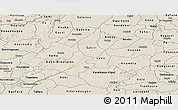 Shaded Relief Panoramic Map of Houet