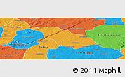 Political Panoramic Map of Peni