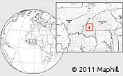 Blank Location Map of Satiri