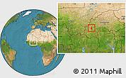 Satellite Location Map of Satiri
