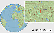 Savanna Style Location Map of Satiri