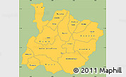 Savanna Style Simple Map of Houet, single color outside