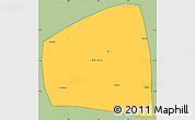 Savanna Style Simple Map of Kadiogo, cropped outside