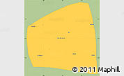 Savanna Style Simple Map of Kadiogo, single color outside