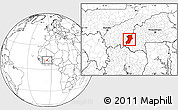 Blank Location Map of Kenedougou