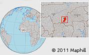 Gray Location Map of Kenedougou