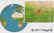 Satellite Location Map of Kenedougou