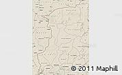 Shaded Relief Map of Kenedougou