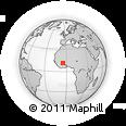 Outline Map of Kenedougou