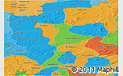 Political Panoramic Map of Kenedougou