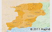 Political Shades Panoramic Map of Kenedougou, lighten