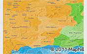 Political Shades Panoramic Map of Kenedougou