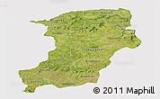Satellite Panoramic Map of Kenedougou, cropped outside