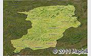 Satellite Panoramic Map of Kenedougou, darken