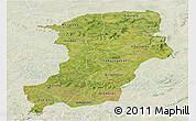 Satellite Panoramic Map of Kenedougou, lighten