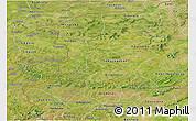 Satellite Panoramic Map of Kenedougou