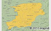 Savanna Style Panoramic Map of Kenedougou