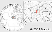 Blank Location Map of Samoghohiri